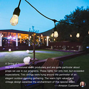 SUPERDANNY LED Outdoor String Lights for Patio