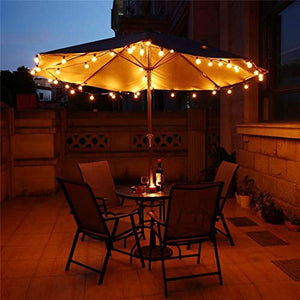 Shatterproof LED G40 Outdoor Globe Patio String Lights 25FT