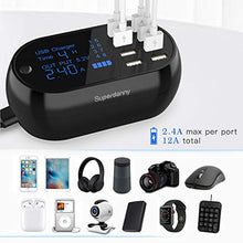 Load image into Gallery viewer, Multiple USB Charging Station with Timer Black/White