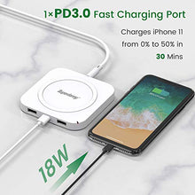 Load image into Gallery viewer, Ultra-Slim Wireless Charger with 1 Type C Port White