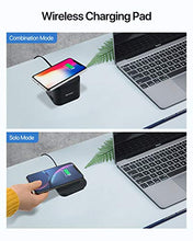 将图片加载到图库查看器,SUPERDANNY 5-Port USB Charging Station with Wireless Pad & Phone Holder, Charger Stand Compatible with Apple Watch Series 5/4/3/2/1(44/42/40/38mm), iPhone X/XR/11, iPad, Samsung Galaxy/Note, Black