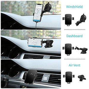 Wireless Car Charger 10W Auto Clamping Dashboard