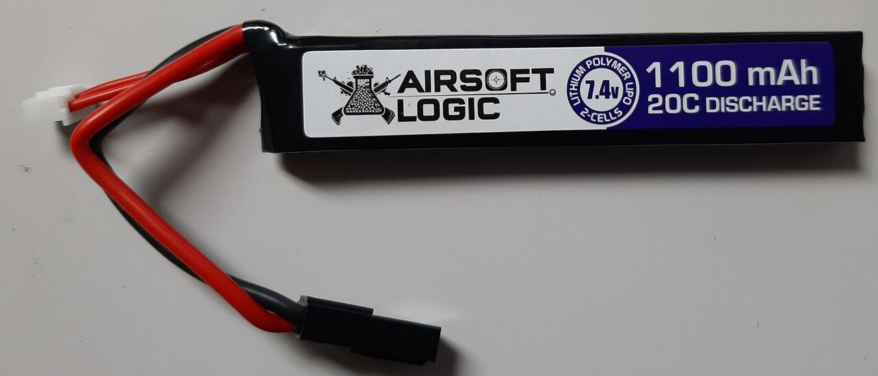 Airsoft Logic 7.4v 1100mAh LiPo Stick Battery