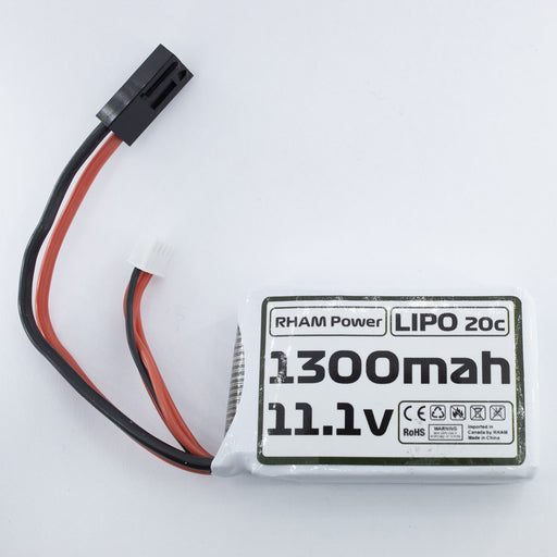 RHAM Power 11.1v Lipo 1300mAh PEQ 20C