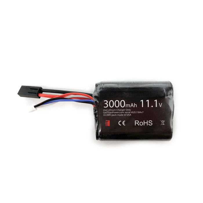 Titan Power 11.1v 3000mAh Li-Ion Brick Battery with Tamiya