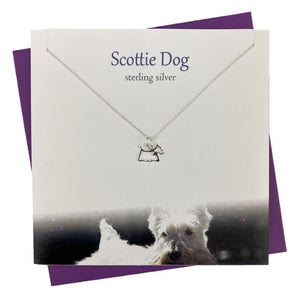 Sterling Silver pendants for women with Scottie Dog design