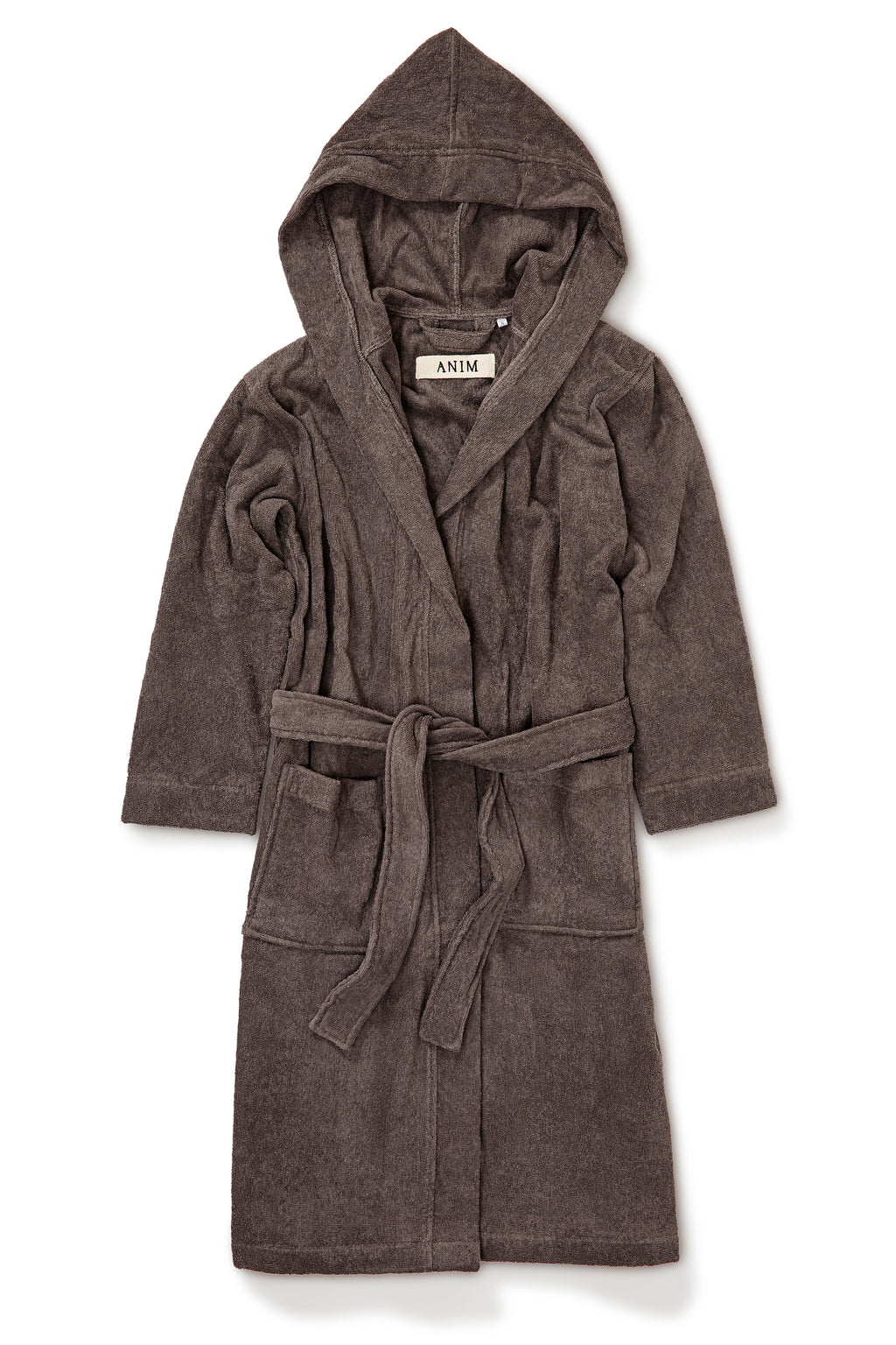 HOODED BATHROBE