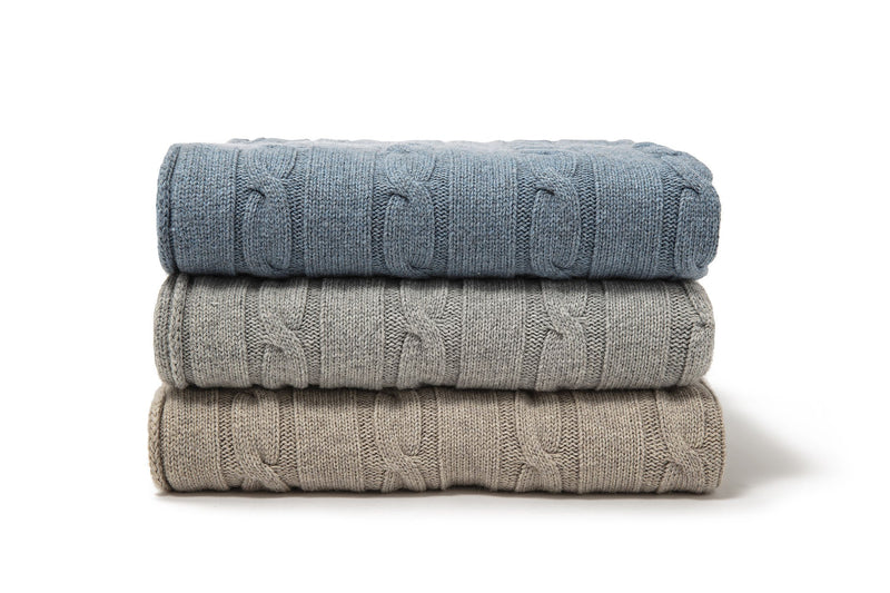 TERRA - Cashmere Blend Knit Throw