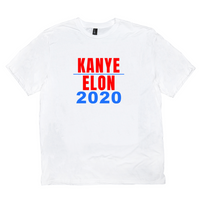 """Kanye and Elon 2020"" White T-shirt"