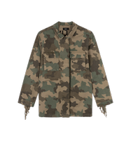 Afbeelding in Gallery-weergave laden, Alix the label Ladies woven camouflage jack fringes