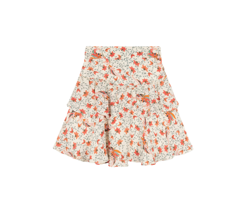 Alix the label Ladies woven floral ruffle skirt