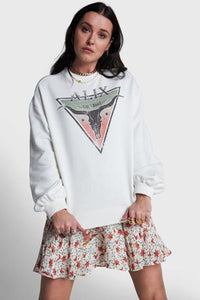 Alix the label Ladies woven knitted triangle sweater