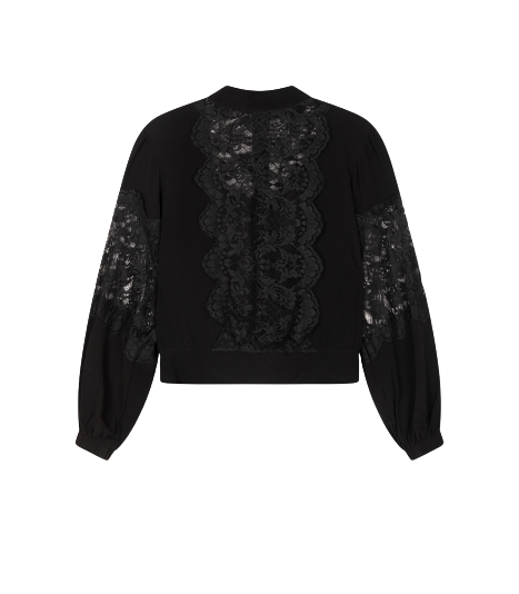 Alix the label Ladies woven lace crepe blouse