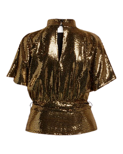 GIRL-TOP1 001 Black/Gold