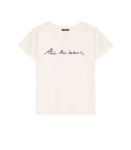 Afbeelding in Gallery-weergave laden, ALIX THE LABEL Ladies knitted Alix the label t-shirt off-white