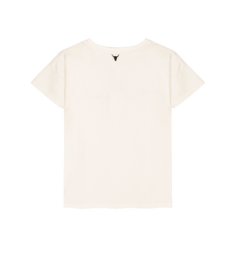 ALIX THE LABEL Ladies knitted Alix the label t-shirt off-white
