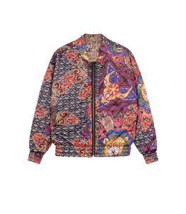 Ladies woven reversible jacket