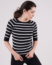Afbeelding in Gallery-weergave laden, Moscow top viscose  Black / Off white