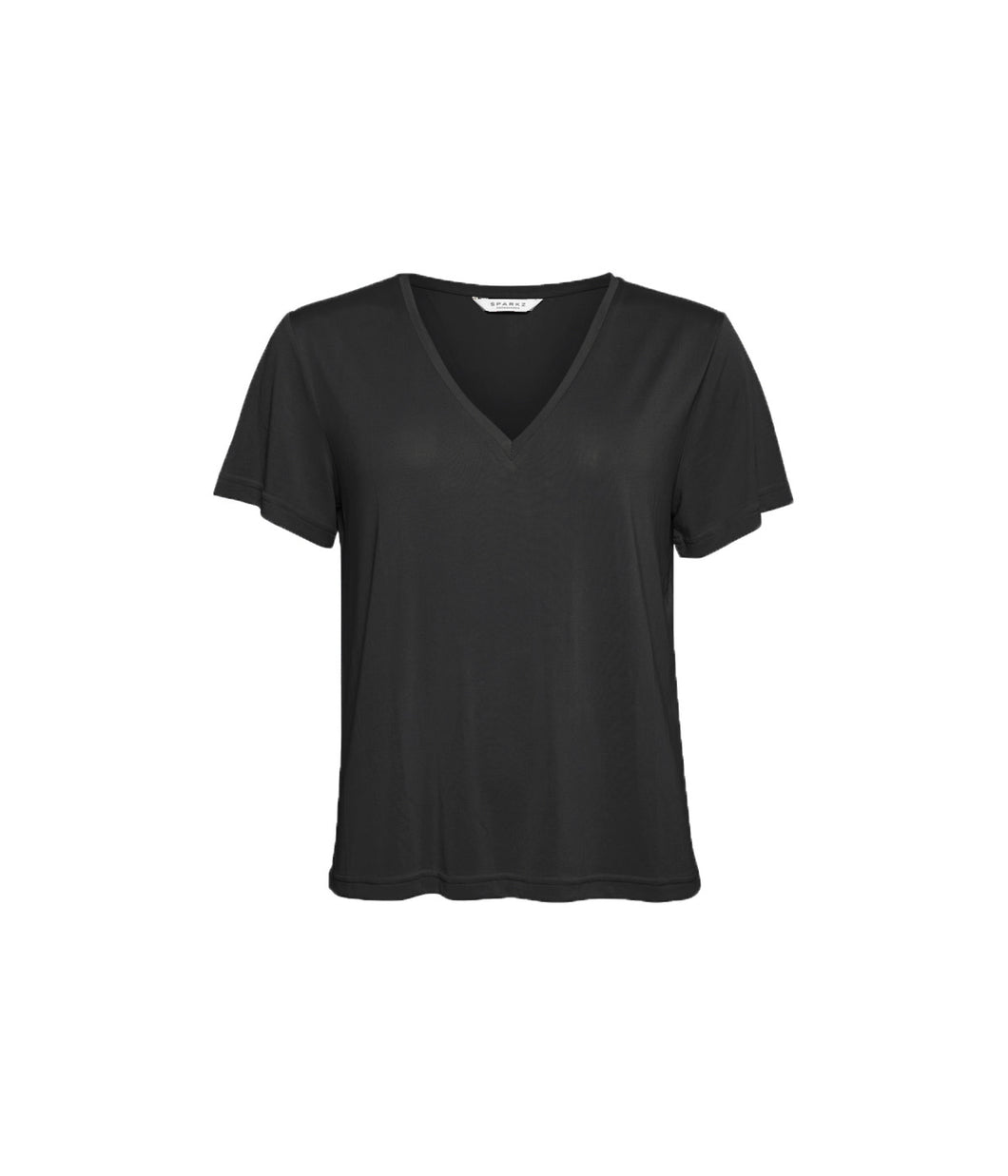 PETTI V NECK TEE 099 Black