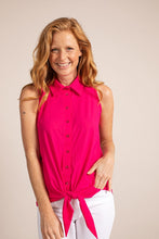 Afbeelding in Gallery-weergave laden, Poppy knot SL blouse 5800 Fuchsia
