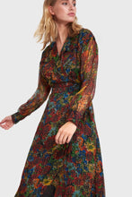 Afbeelding in Gallery-weergave laden, ladies woven flower lurex long dress