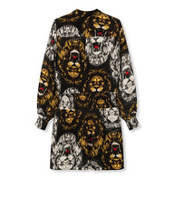 Afbeelding in Gallery-weergave laden, ladies woven oversized lion blouse dress