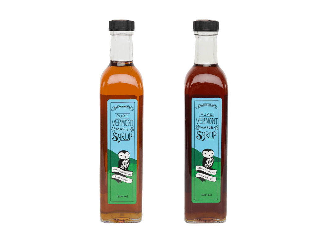 Maple Syrup in Glass Bottles - Barred Woods Maple