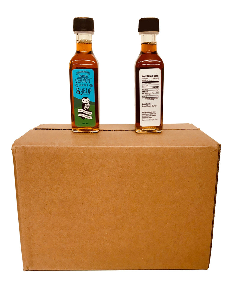 Case of 24 100ml Bottles, Perfect for Favors or to Say Thanks - Barred Woods Maple