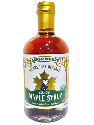 Load image into Gallery viewer, vermont  maple syrup in glass bottles