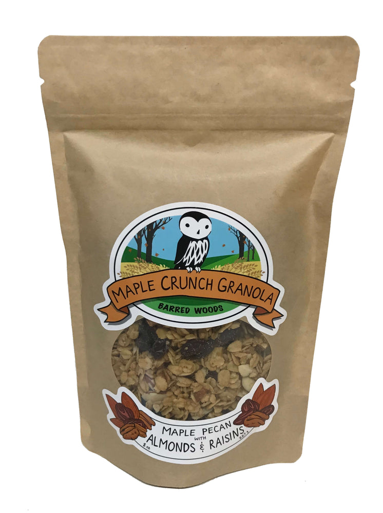Maple Crunch Granola - Maple Pecan with Almonds & Raisins - Barred Woods Maple