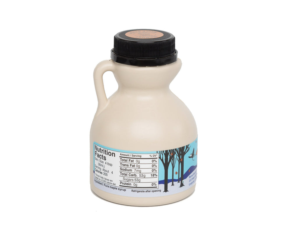 Load image into Gallery viewer, Pure Vermont Maple Syrup - 1/2 Pint Jug  - 8 ounces - Barred Woods Maple