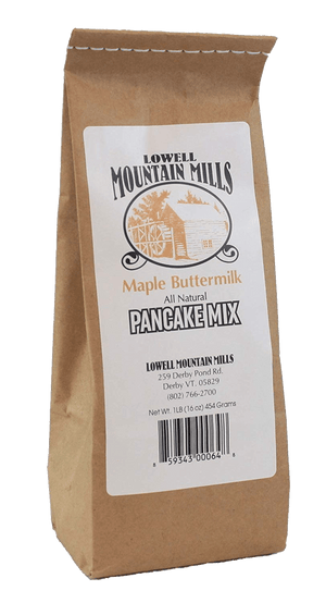 Load image into Gallery viewer, Lowell Mountain Mills Maple Buttermilk Pancake Mix - Barred Woods Maple