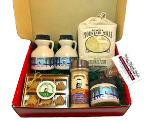 Load image into Gallery viewer, Maple gift box filled with maple treats including maple syrup and a maple candy gift  box