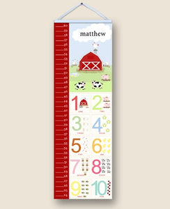 Funny Farm Personalized Growth Charts