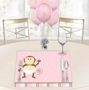 Monkey Moo Sue Baby Shower Placemats