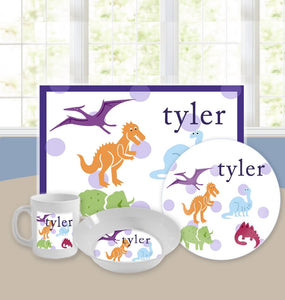 Personalized Kids Tableware Set - Dinomite