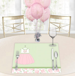 Little Pink Dress Baby Shower Placemats