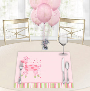 Pink Giffy Baby Shower Placemats