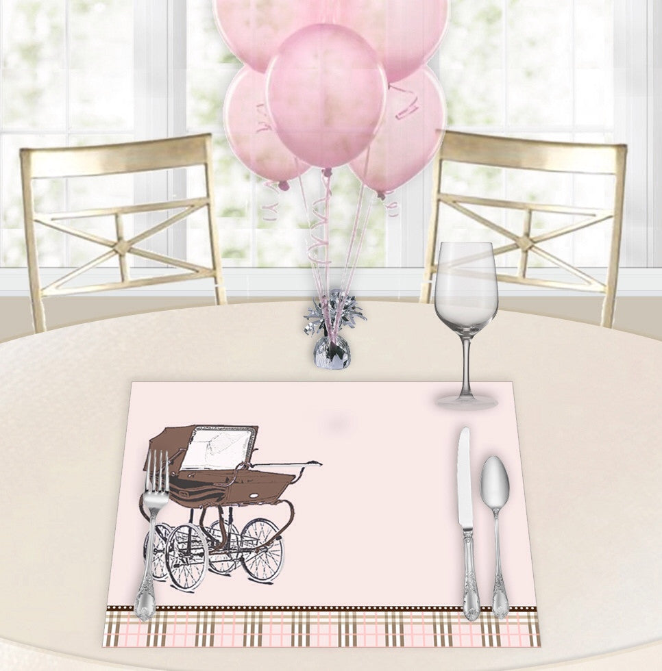 Central Park West Pink Baby Shower Placemats