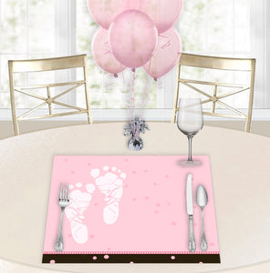 Pink Pitter Patter Baby Shower Placemats