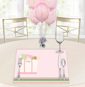 Baby Totes Pink Baby Shower Placemats