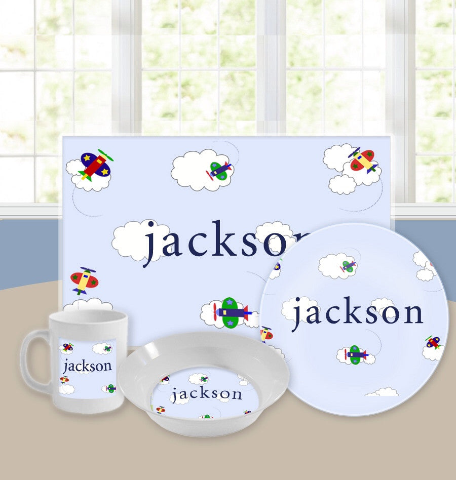 Personalized Kids Tableware Set - Off We Go