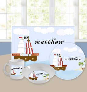Personalized Kids Tableware Set - Treasure Island