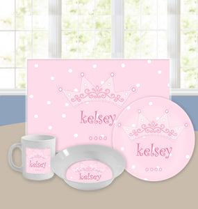 Personalized Kids Tableware Set - Little Princess