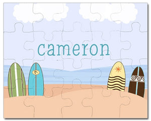 Surfs Up Blue Personalized Puzzles