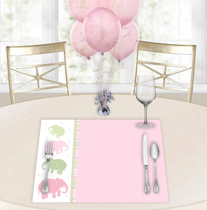 Ellas Marching Pink Baby Shower Placemats