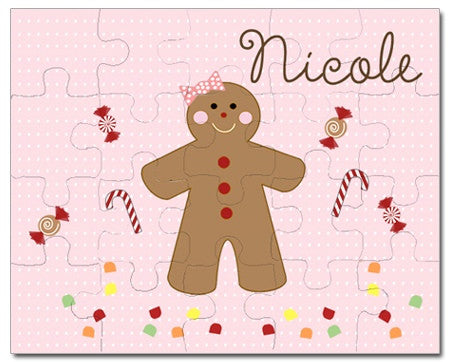 Gingerbread Girl Personalized Puzzles
