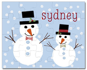 Happy Snowman Personalized Puzzles