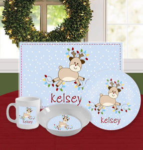 Personalized Kids Tableware Set - Randy Rudolph