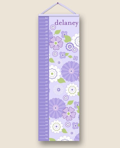 Vintage Floral Lilac Personalized Growth Charts